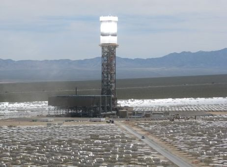 377MW solar thermal power station being built in California's Mojave Desert