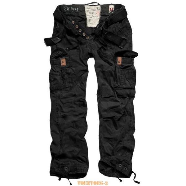 Заказать брюки premium vintage black