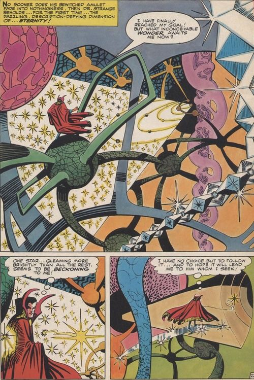 This artwork is mind-blowing: Dr Strange by the amazing Steve Ditko.