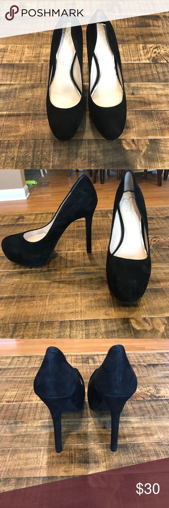 Jessica Simpson Black Pumps black suede JS pumps. Only been worn once! In great condition. Jessica Simpson Shoes Heels