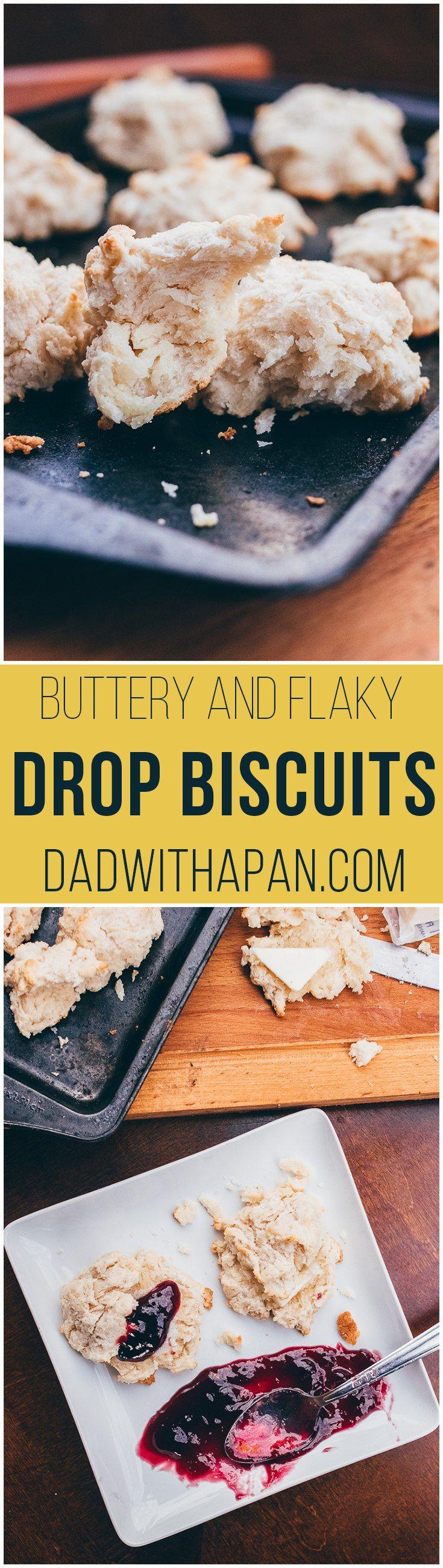 Easy Homemade Drop Biscuits #breakfast #biscuits