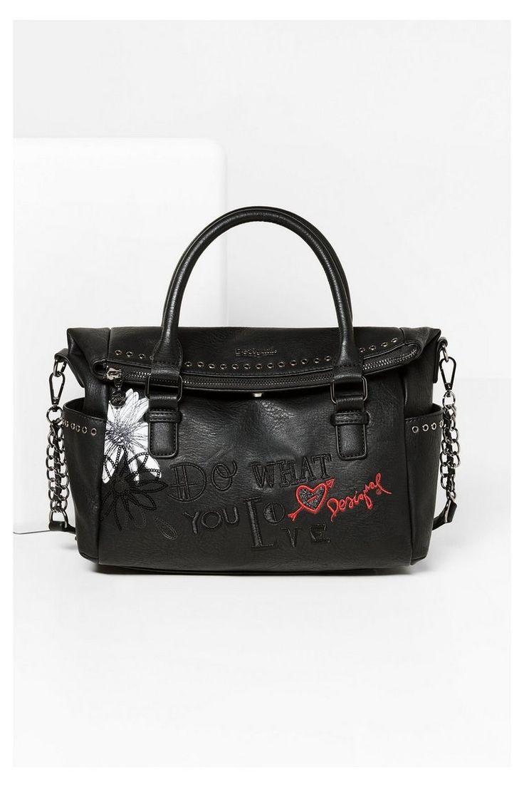 Zwarte tas - Loverty Black Daisy | Desigual.com
