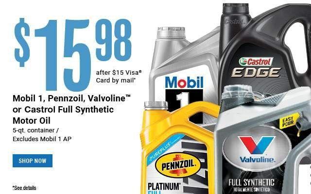 24 99 Diy Oil Change Deal Castrol Conventional Oil Change Diy Oils Pep Boys