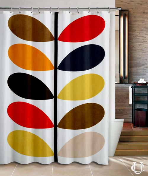Orla Kiely patern Inspirate Shower Curtain