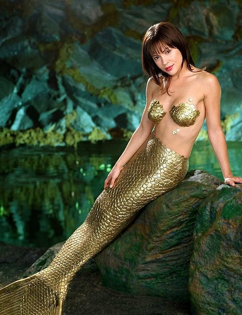 Alyssa Milano as a mermaid