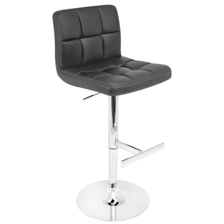 add modern seating to any space with this handsome black bar stool the chrome based