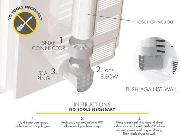 Snap To Vent Quick Connect Dryer 90 Elbow Stv 90 Ziggurat Products Laundry Room Dryer Vent Best Dryer