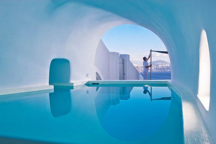 Cave pool, Santorini