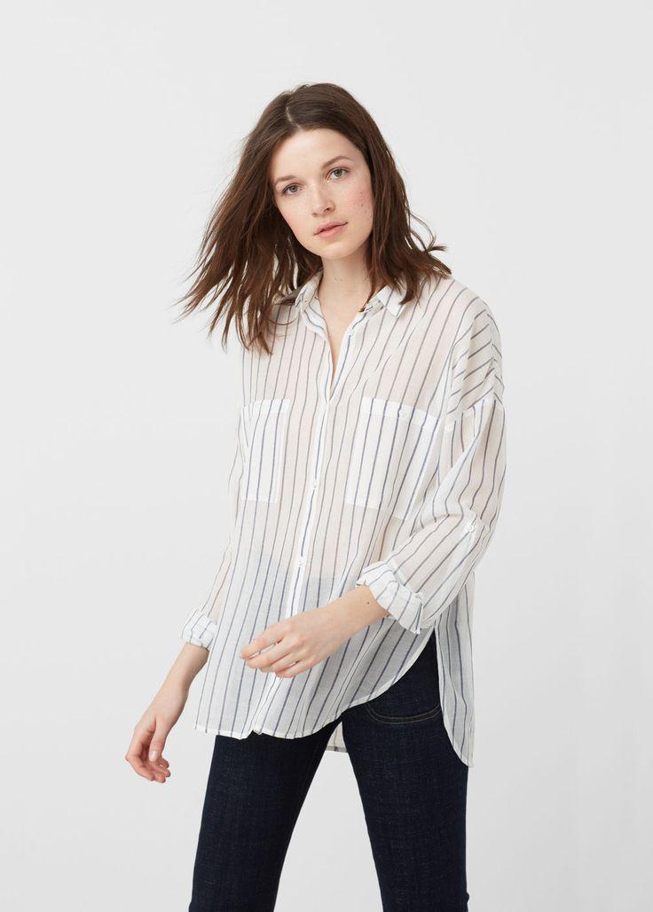 Cotton shirt - Shirts for Women | MANGO USA