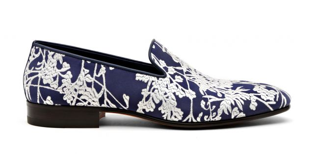 Santoni Rubelli Oriental Flower Loafers Capsule Collection blue Santoni x Rubelli Loafers