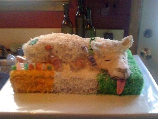 Irish Llama 21st Birthday Cake Cakes By Me