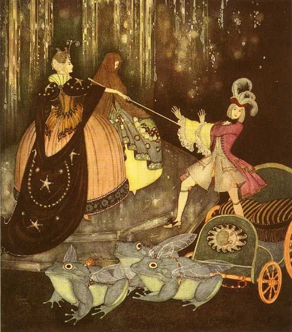 The Blue Bird; A French Fairy Tale - Edmund Dulac's Fairy-Book, 1916 (close up)
