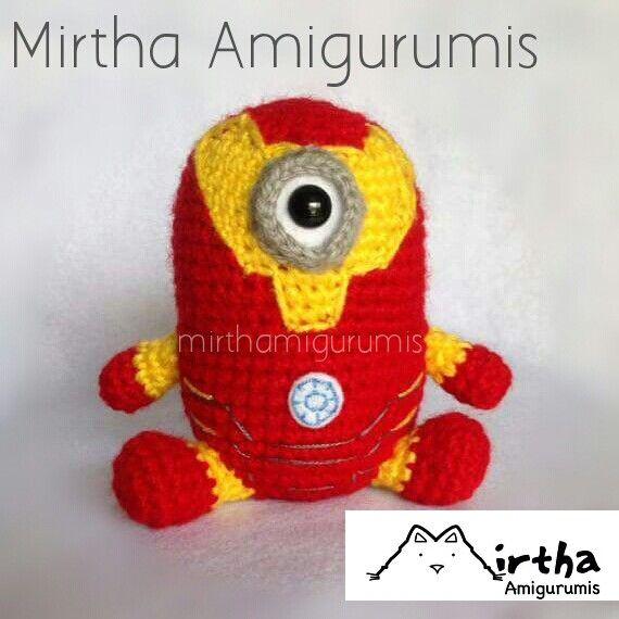 Amigurumi Minion Superheroes : Iron man minion by Mirtha Amigurumis #minion #marvel # ...