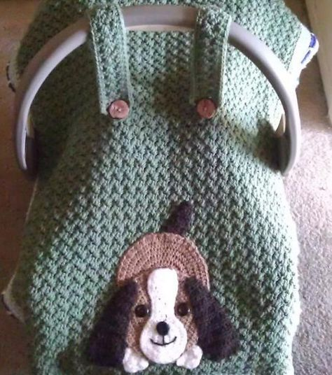 If there's a new baby on the horizon for you or someone you love, then how about crocheting this adorable car seat cover? Grab the free pattern and use your imagination to create color combinations th