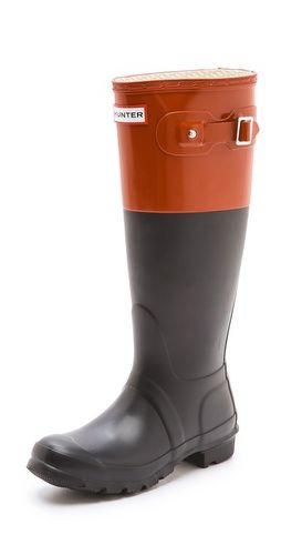 @M Luz Martinez                                                Hunter Boots Original Colorblock Rain Boots