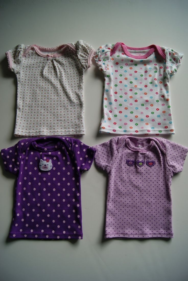 Turn newborn onesies into 18-inch doll nightgowns via NestFullOfEggs.Blogspot.com