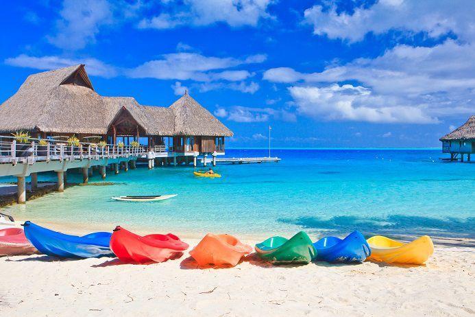 Matira Beach, Bora Bora, Polinezja Francuska