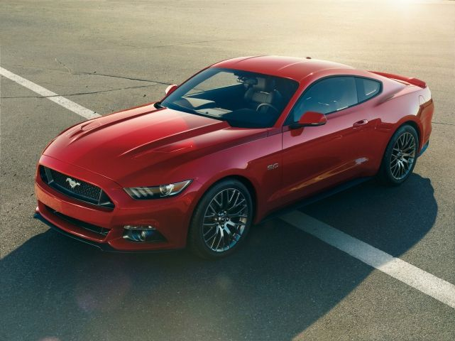 6th generation Ford Mustang (red)