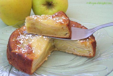 Pastel de manzana y pera