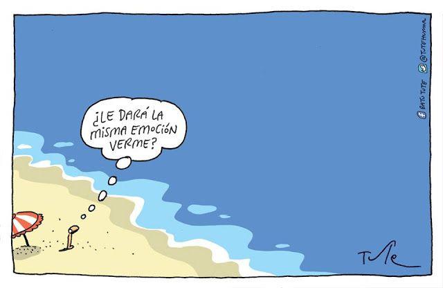 Caleta de cara al mar: HUMOR PLAYERO TUTE Tute también nos regala su ingenio…