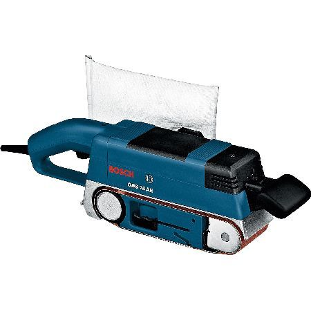 Bosch GBS 75AE Belt Sander 75 x 533mm 750w 240v The GBS 75 AE belt sander from Bosch is ideal for working on a wide variety of surfaces such as wood, plastic or metal. Exact belt running is guaranteed by the integrated guide roller fine adjustment  http://www.MightGet.com/february-2017-2/bosch-gbs-75ae-belt-sander-75-x-533mm-750w-240v.asp