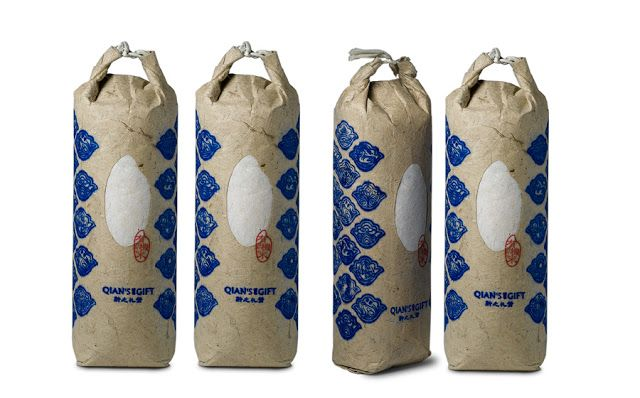 Qian`s Gift Organic Rice on Packaging of the World - Creative Package Design Gallery