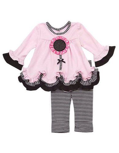 Rare Editions Baby Girls Flower Striped Dress « Clothing Impulse