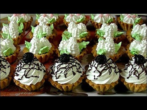 Пирожные Корзиночки с Белковым Заварным Кремом по ГОСТу - YouTube