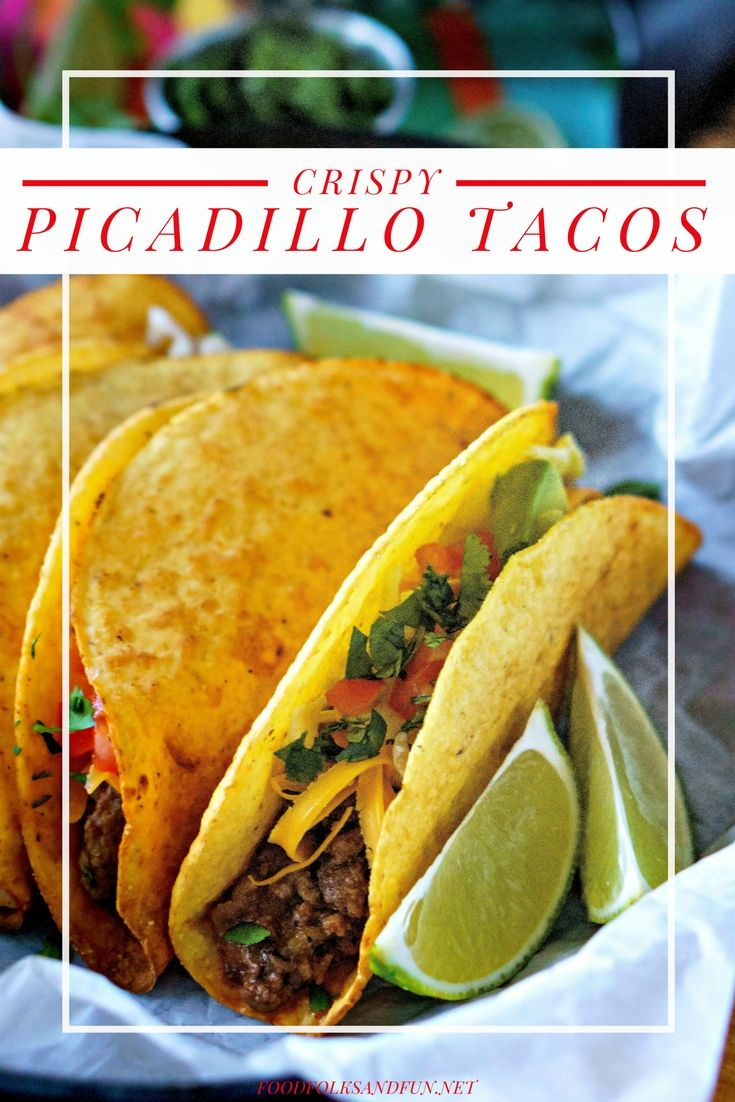These Picadillo Tacos are crispy ground beef and potato tacos that are easy to make and feed a crowd. | TACOS DE PICADILLO