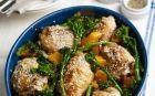 One pot Roast chicken with sesame seeds