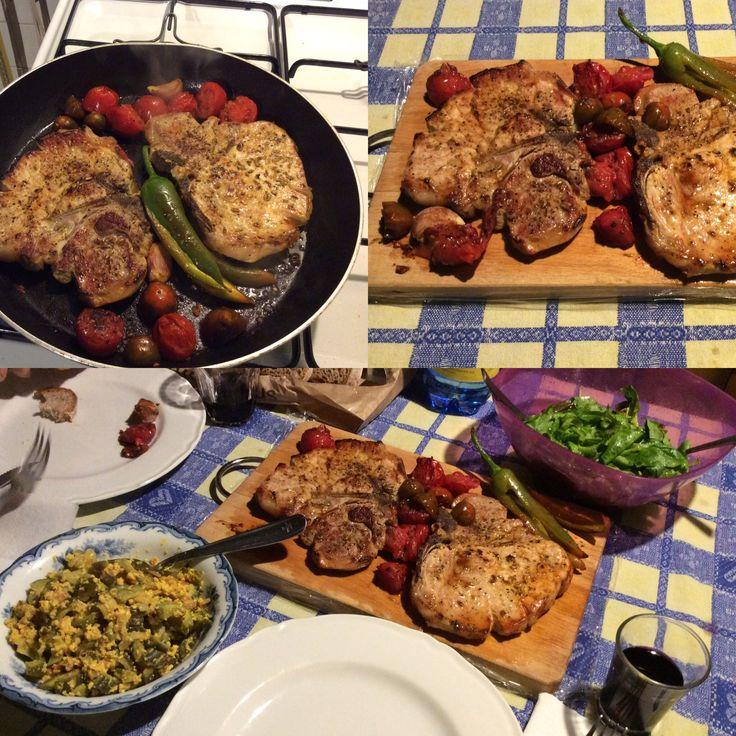 Pork chops... inspired by Jamie Oliver