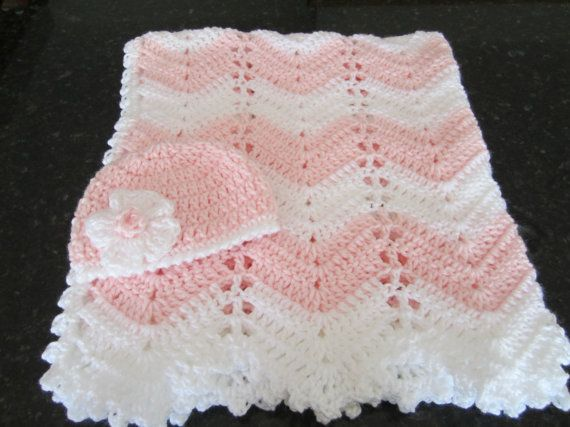 baby girl shower gift, newborn girl gift set, blanket, delicate pink and white baby blanket, crocheted blanket, photo prop, READY TO SHIP