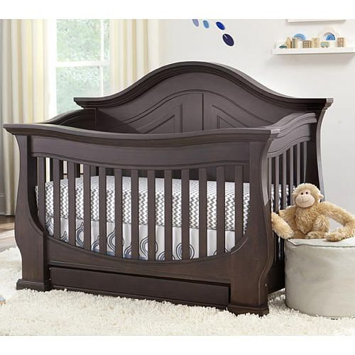 "Eco Chic Baby Dorchester Convertible 4 in 1 Crib in Slate Finish - Eco Chic Baby - Babies ""R"" Us"