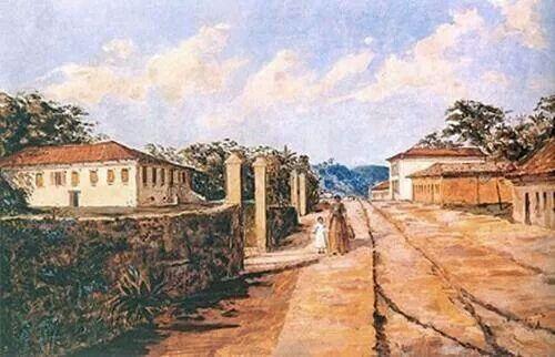 Rua da Consolação por volta de 1890. Obra de José Ferraz Almeida Jr.