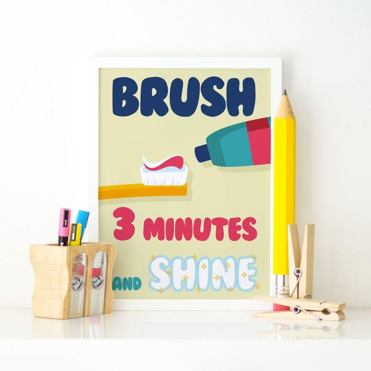 Poster bambini Brush & Shine Arte digitale per casa e ufficio di TeaTimeMilanoPrints su Etsy
