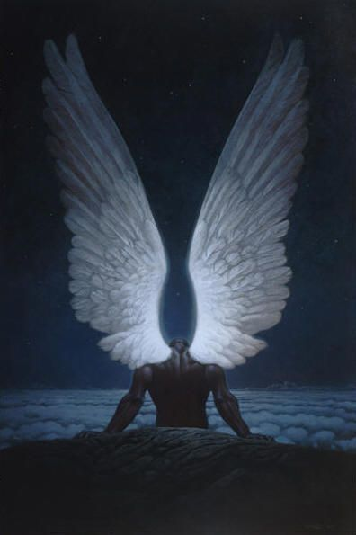 Angel wings. As long as no one sees me up close I should be fine. I cast hide them so I can't go to school ... So far that should stay that way because everyone would freak out.