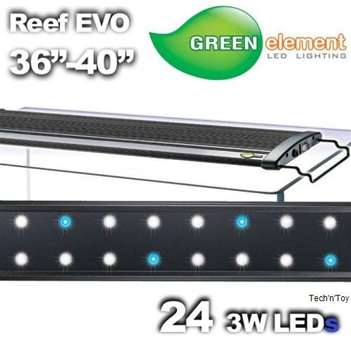 """Green Element EVO 36""""-40"""" LED Aquarium Light Fixture - Reef Capable 24x3W >>> Be sure to check out this awesome product."""