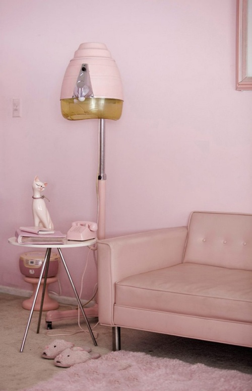 """The pinks create a monochromatic color scheme. The low intensities give off a """"laid back"""" feel."""