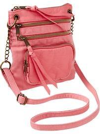 Old Navy Women's Three-Zip Canvas Cross-Body Bags  Regular Price  $19.94