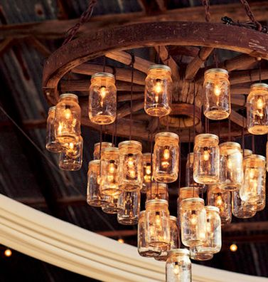 An incredible rustic chandelier! {Sarah Kathleen Photography}