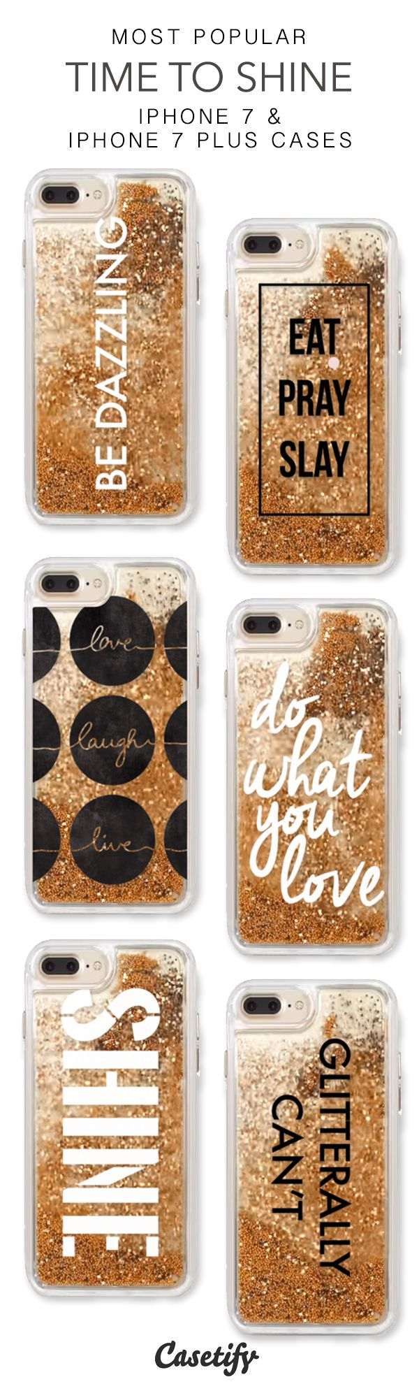 Most Popular Time To Shine iPhone 7 Cases & iPhone 7 Plus Cases. More glitter iPhone case here > https://www.casetify.com/en_US/collections/iphone-7-glitter-cases#/?vc=l71mrMBQxC