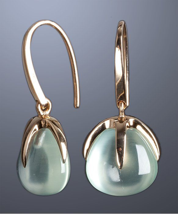 Pomellato : quartz and gold 'Veleno' drop earrings : style # 318697701