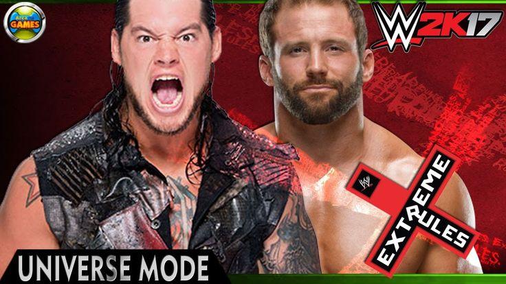WWE Universe Mode: Extreme Rules - Baron Corbin vs Zack Ryder [PPV] 2K17