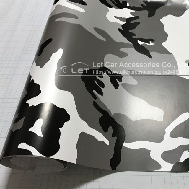Auto Styling Zwart Wit Camo Vinyl Wrap Auto Motorcycle Decal