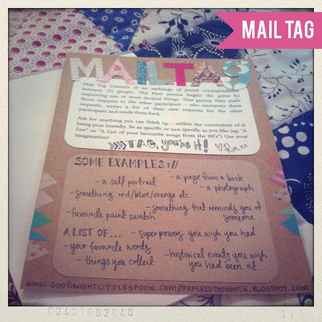 Snail Mail: 4. Mail Tag Design Muse: Guest Post: Rin from Papered Thoughts