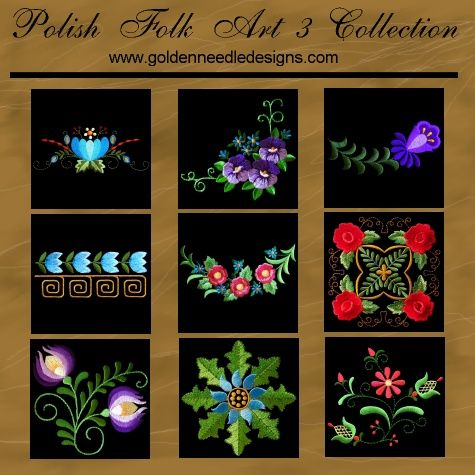 Golden Needle Designs Polish Folk Art www.goldenneedledesigns.com