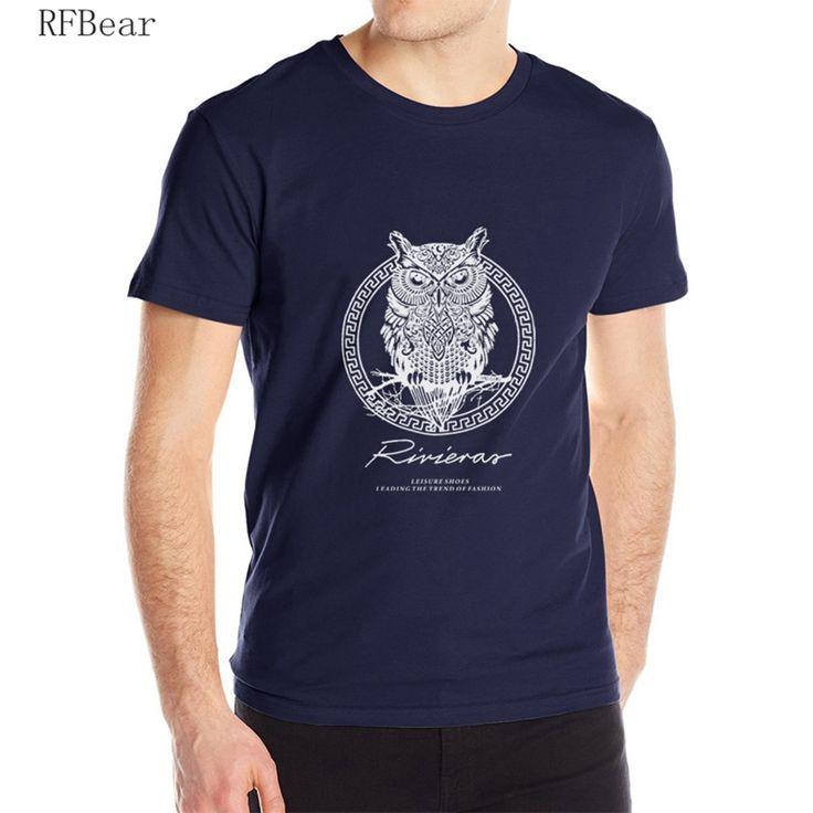 T-Shirts  RFBEAR brand 2017 new t shirt man cotton Short sleeve fashion summer printing Casual o-neck Men T-shirt Spirit of the night bird ** AliExpress Affiliate's Pin. Click the image for detailed description on AliExpress website