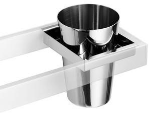 #Lineabeta #Skuara, toothbrush holder, stainless steel, bracket minimum size 80 mm   #Modern #Ceramic   on #bathroom39.com at 25 Euro/pc   #accessories #bathroom #complements #items #gadget