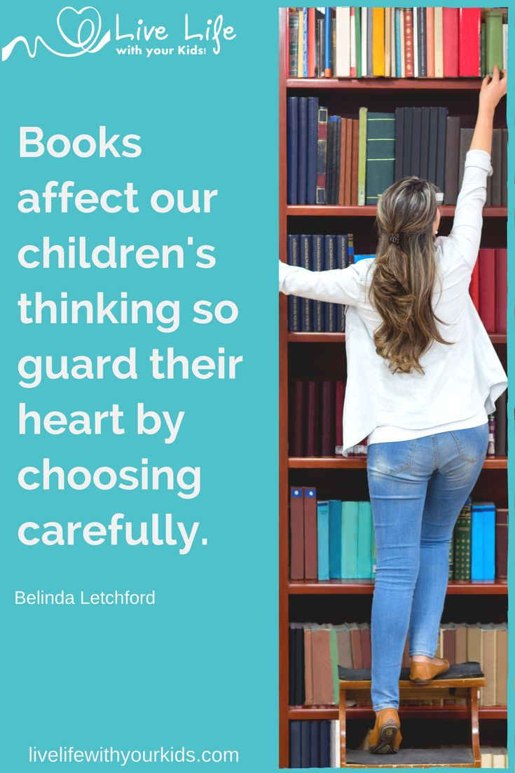 Though we may not be able to read every book ahead of our children we can lean how to choose wisely for them.