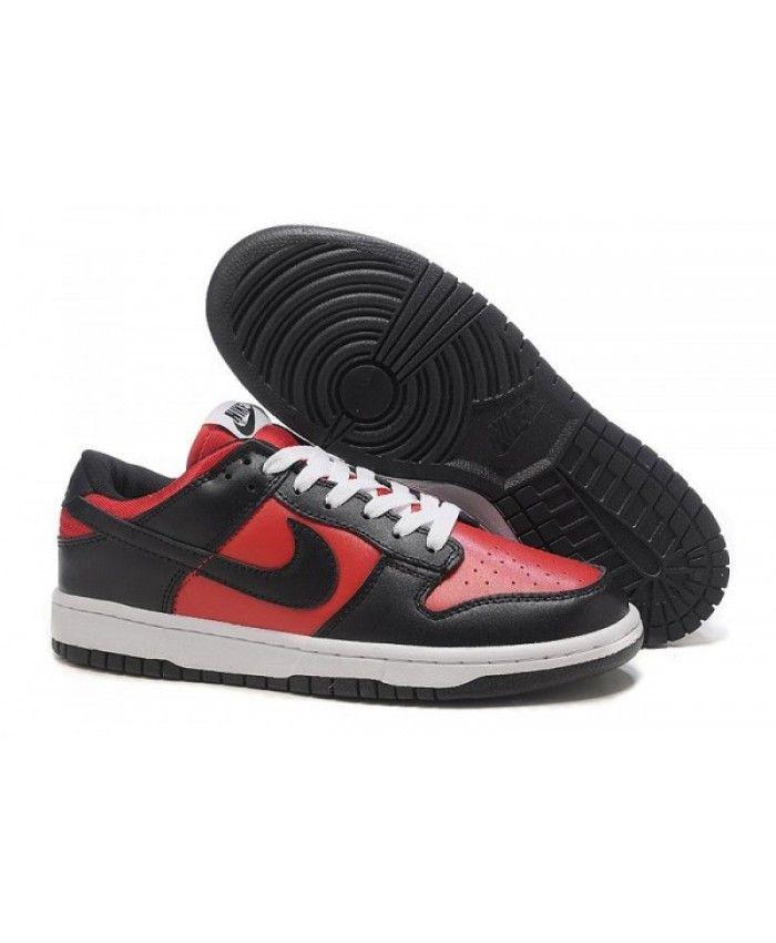d44c06bf93c0 Nike Dunk SB Shoes Low Men Black Red White